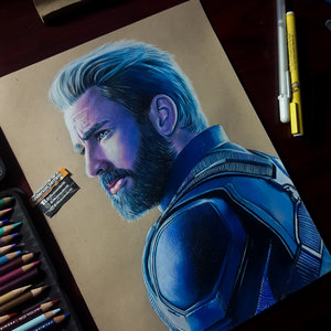 CAPITÁN AMÉRICA A COLOR/ INFINITY WAR/ CHRIS EVANS