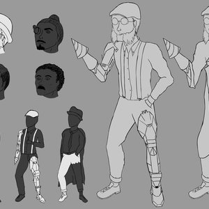 Character design steampunk style