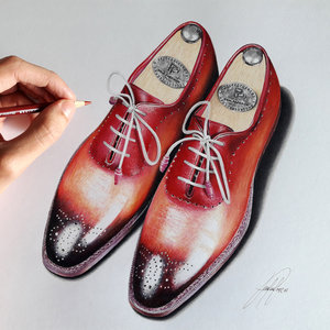 Realistic shoe drawing