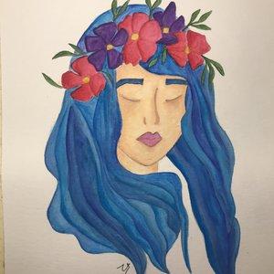 blue sleeping beauty