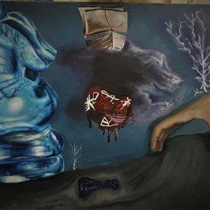 La pérdida de la razón en la catástrofe | pintura al óleo