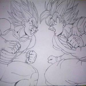 Goku vs vegeta _ estilo Yuya Takahashi