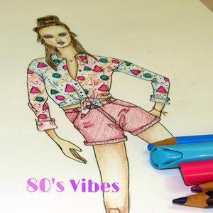 Figurín de moda, años 80