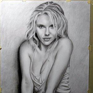 Retrato de Scarlett Johansoon