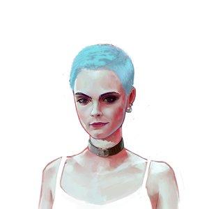 Retrato digital de Cara Delevingne