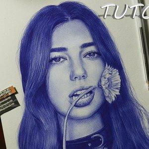 Cómo dibujar un rostro con bolígrafo paso a paso / dua lipa