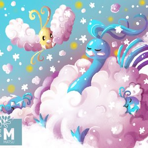 Fan Art Altaria y Swablu