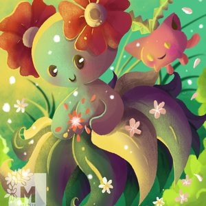 Bellossom y Hoppip fan art