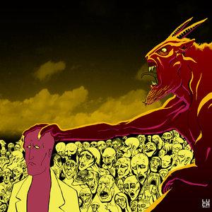 El Demonio arrastrando una nueva alma