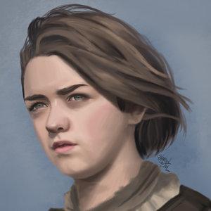 Arya Stark RetratandoLaSerie
