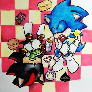Baby sonic & baby Shadow