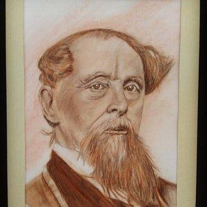 Retrato Charles Dickens