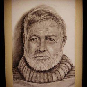 Retrato Ernerst Hemingway