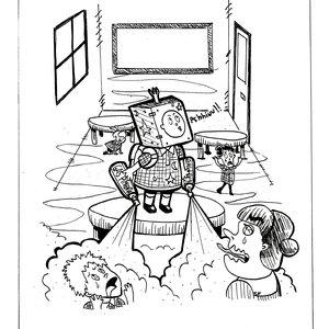Caricatura de humor: Jardín infantes
