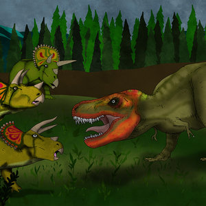 Triceratops vs Tyrannosaurus Rex