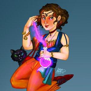 Ilustración digital - Diseño personaje bruja.