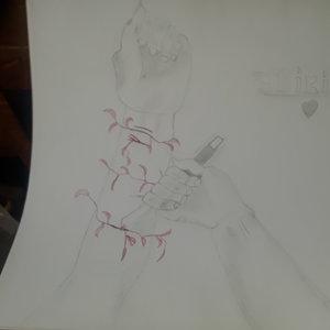 manos de suicidio (dibujo depre)