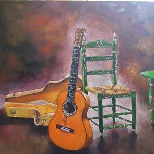 Homenaje a la Guitarra ( oleo)