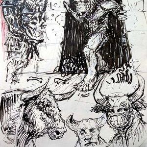 Teseo y el Minotauro: bocetos, proceso.