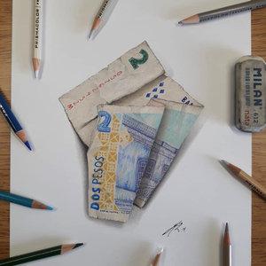 Billete de 2 pesos Argentino