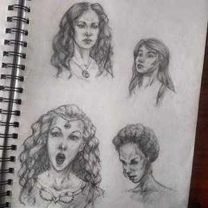 Sketches - cabezas femeninas