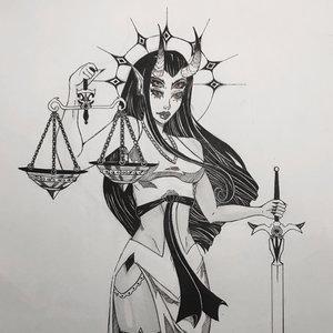 Philosophical Demon Lady