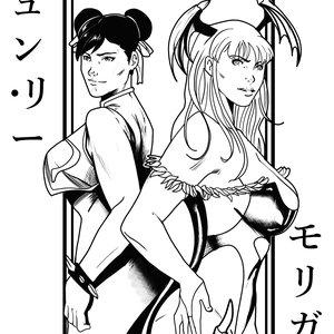 Chun li y Morrigan