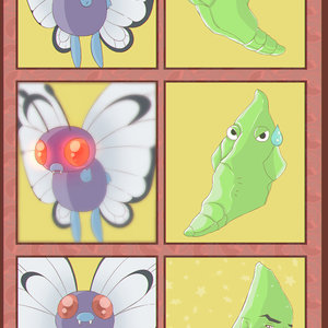 Metapod y Butterfree