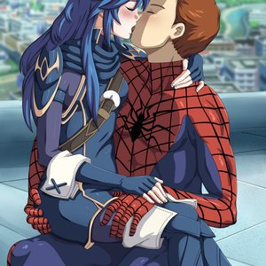 Commission_Loverlasyspunk___Spiderman_x_Lucina_kiss_385349.png