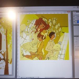 Trabajos clase de Manga color