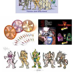 Creación de Personajes e Ilustración Digital Juego Tierras Magicas Arcor