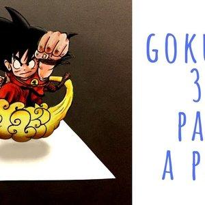 Cómo dibujar a GOKU en 3D paso a paso