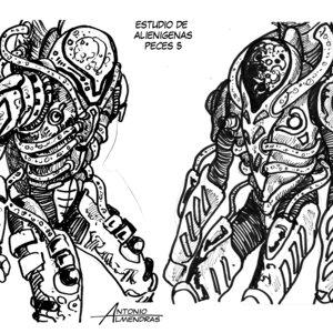 estudio bocetos alien 6