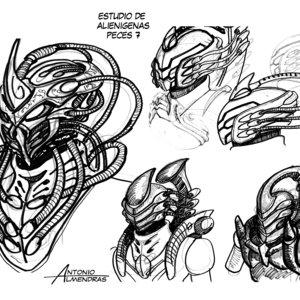 estudio bocetos alien 7
