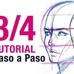Cómo Dibujar ROSTRO en Tres Cuartos 3/4 Paso a Paso
