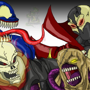 Venom vs Spawn vs Ghost Rider vs Nemesis