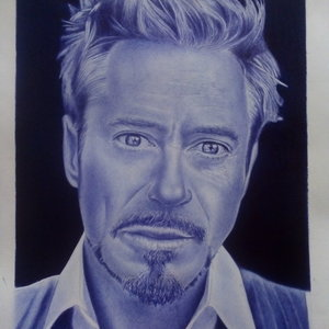 Retrato de Robert Downey Jr. (Iron man )