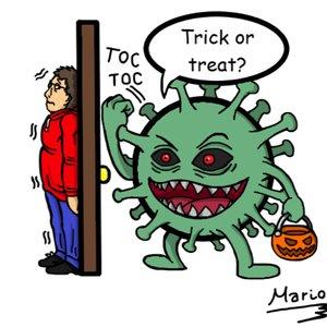 Coronavirus en Halloween.
