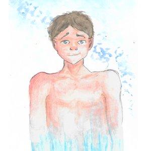 Ilustración con acuarelas // Hombre Helado