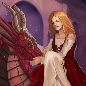 Girl with dragon