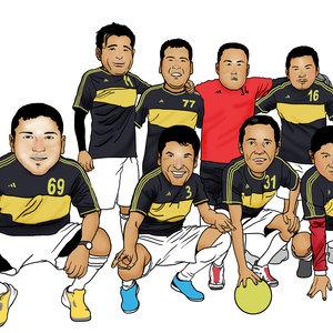 caricaturas de futboleros