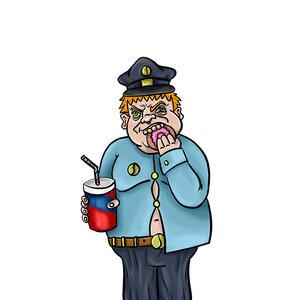 Policía gordo
