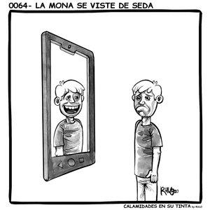 Viñeta 0064- La mona se viste de seda