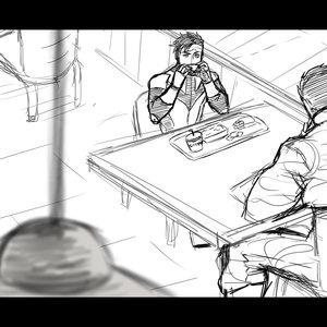 Usagi obsesión| tira Sketch