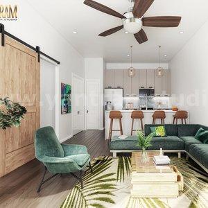 Diseño de interiores abierto para cocina moderna sala de estar diseñadores de interio