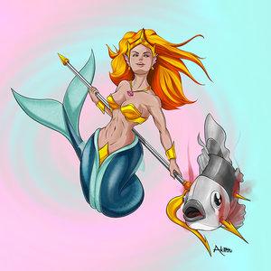 Sirena cazadora