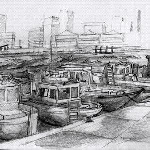 sketch puerto contemporaneo,