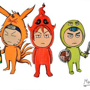 Raruto, Kaji y Kofi en Halloween.