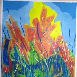 Pintando con acrílicos