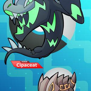 Fakemon....Skink Crocodile Cipactli